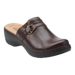 Women's Clarks Hayla Marina Clog Brown Cow Full Grain Leather/Goat Nubuck