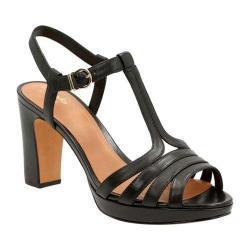 Women's Clarks Jenness Night Ankle Strap Sandal Black Sheep Full Grain Leather