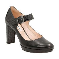 Women's Clarks Kendra Gaby Mary Jane Black Leather