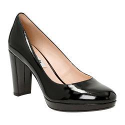 Women's Clarks Kendra Sienna Pump Black Patent Leather