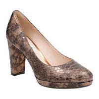 Women's Clarks Kendra Sienna Pump Bronze Snake Leather