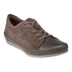Women's Clarks Lorry Grace Lace Up Shoe Taupe Suede/Leather