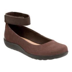 Women's Clarks Medora Nina Ankle Strap Shoe Mushroom Goat Nubuck/Leather