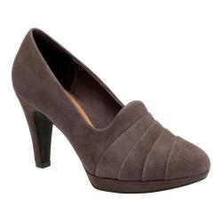Women's Clarks Narine Flora Pump Taupe Goat Suede