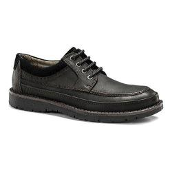 Men's Dockers Eastview Moc Toe Derby Black Oiled Distressed Tumbled Full Grain Leather