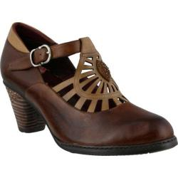 Women's L'Artiste by Spring Step April Mary Jane Brown Multi Leather