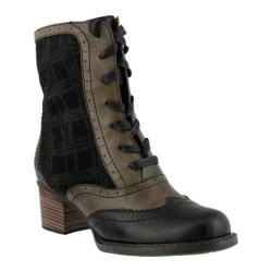 Women's L'Artiste by Spring Step Danderie Boot Black Multi Leather/Textile