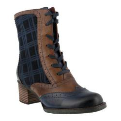 Women's L'Artiste by Spring Step Danderie Boot Navy Multi Leather/Textile