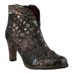 Women's L'Artiste by Spring Step Eleni Bootie Black Multi Leather/Textile