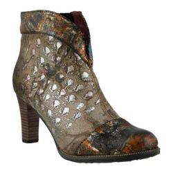 Women's L'Artiste by Spring Step Eleni Bootie Taupe Multi Leather/Textile