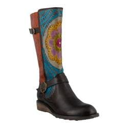 Women's L'Artiste by Spring Step Halvod Boot Dark Brown Multi Leather