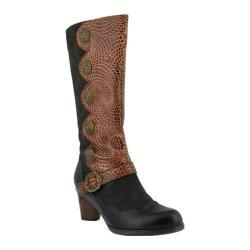 Women's L'Artiste by Spring Step Pancas Boot Dark Brown Multi Leather/Textile