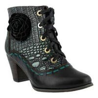 Women's L'Artiste by Spring Step Sufi Bootie Black Leather