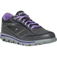 Women's Propet Billie Lace Walking Shoe Black/Purple Mesh
