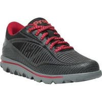 Women's Propet Billie Lace Walking Shoe Black/Red Mesh