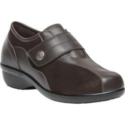Women's Propet Diana Strap Casual Shoe Bronco Brown Leather/Stretch Synthetic Suede