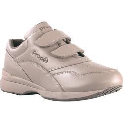 Women's Propet Tour Walker Strap Shoe Taupe Leather