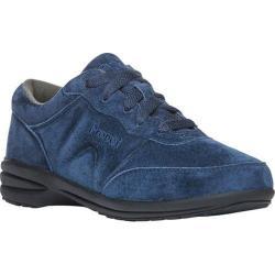 Women's Propet Washable Walker Suede Walking Shoe Indigo Suede