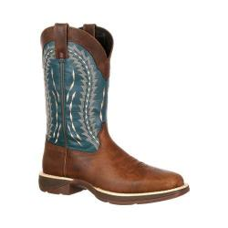 Men's Durango Boot DDB0093 12in Rebel Boot Brown/Teal Leather/Faux Leather