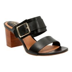 Women's Clarks Ralene Rose Heeled Sandal Black Cow Full Grain Leather