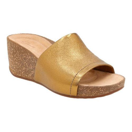 6be0a639013 Shop Women s Clarks Temira North Wedge Sandal Gold Metallic Cow Full Grain  Leather - Free Shipping Today - Overstock - 12235417