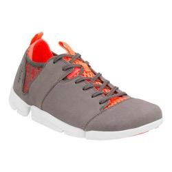 Women's Clarks Tri Active Sneaker Grey/Orange Nubuck