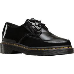 Women's Dr. Martens Belladonna Pointed 2 Eye Creeper Black Patent Lamper