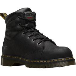 Dr. Martens Fairleigh Steel Toe Electrical Hazard 6 Eye Boot Black Overlord
