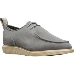 Men's Dr. Martens Leverton 2 Eye Moc Toe Shoe Grey Mare Hi Suede