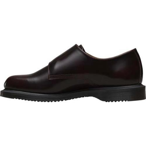 wide range offer discounts exceptional range of styles and colors Women's Dr. Martens Pandora Double Monk Strap Cherry Red Arcadia |  Overstock.com Shopping - The Best Deals on Clogs & Mules