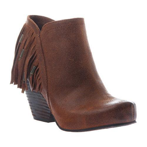 Women's OTBT Folkloric Fringe Bootie New Tan Leather