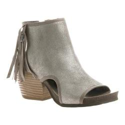 Women's OTBT Free Spirit Open Toe Bootie Grey Silver Leather