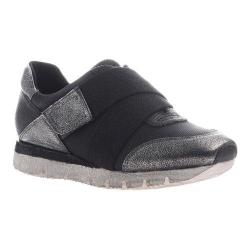 Women's OTBT New Wave Sneaker Black Silver Leather/Synthetic