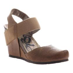 Women's OTBT Rexburg Wedge Dark Brown Leather/Textile