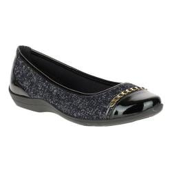 Women's Soft Style Helga Flat Black Tweed/Black Patent