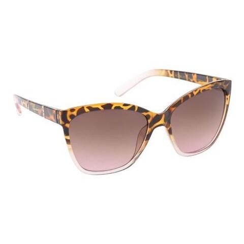 Women's Unionbay U276 Cat Eye Sunglasses Tortoise Rose Fade/Smoke Pink Gradient