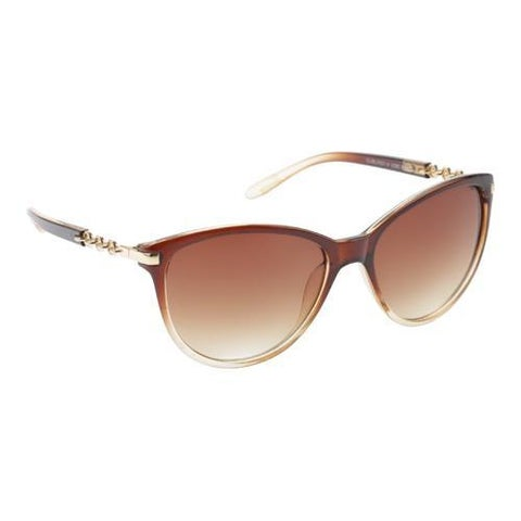 Women's Unionbay U280 Cat Eye Sunglasses Brown Fade/Brown Gradient