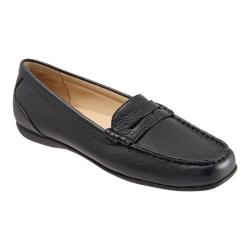 Women's Trotters Staci Moccasin Black Leather
