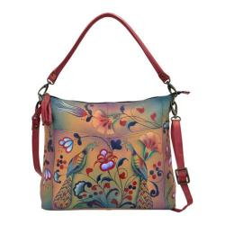 Women's ANNA by Anuschka Hand Painted Leather Convertible Shoulder Bag 8188 Turkish Pottery