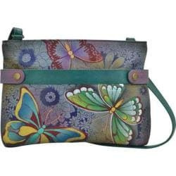 Women's ANNA by Anuschka Hand Painted Leather Medium Crossbody 8233 Butterfly Paradise