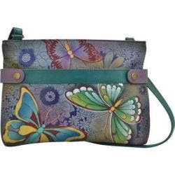 Women's ANNA by Anuschka Hand Painted Leather Medium Crossbody 8233 Butterfly Paradise|https://ak1.ostkcdn.com/images/products/125/343/P19091796.jpg?impolicy=medium