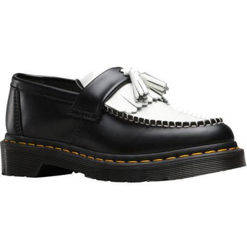 87fc77c04ac Shop Women s Dr. Martens Adrian Tassel Loafer Black White Smooth Leather -  Free Shipping Today - Overstock - 12249985