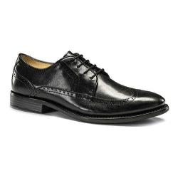 Men's Dockers Robertson Wingtip Derby Black Burnished Full Grain Leather