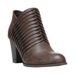 Women's Fergalicious Calhoun Bootie Dark Brown Synthetic Leather