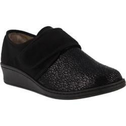 Women's Flexus by Spring Step Janice Slipper Black Micro Suede
