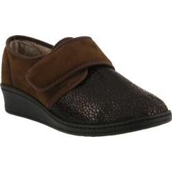 Women's Flexus by Spring Step Janice Slipper Brown Micro Suede