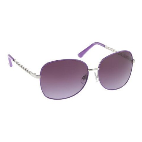 Women's Unionbay U543 Sunglasses Silver/Purple/Smoke Purple Gradient