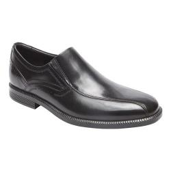Men's Rockport Dressports Business Bike Toe Slip On Black Leather