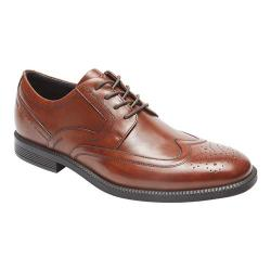 Men's Rockport Dressports Business Wing Tip Oxford New Brown Leather