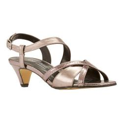 Women's Rose Petals by Walking Cradles Lafayette Strappy Sandal Pewter Snake/New Pewter Nappa